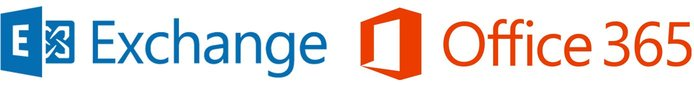 Microsoft Exchange ve Office 365 logoları